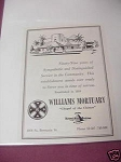 1958 Hawaii Ad Williams Mortuary Chapel of the Chimes