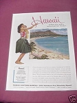 1958 Hawaii Visitors Bureau Ad