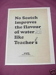 1967 Teacher's Scotch Ad