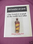 1967 Johnnie Walker Red Ad The Smooth Scotch