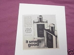 1967 Villa D'Este After Shave and Cologne Ad