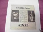 1967 Imported Stock Ad World's Largest Selling Brandy
