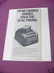 1967 Pitney-Bowes Ad Pitney-Bowes Parcel Postal Scale