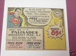 1966 Superman DC Comics Palisades Amusement Park Ad
