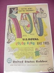 1956 U.S. Royal Ad Color King Bike Tires
