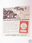 1967 Ad Webster's Seventh New Collegiate Dictionary