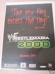1999 Ad Wrestlemania 2000 Video Game THQ