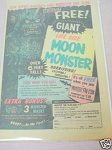 1970 Ad Monster Fan Club With Moon Monster