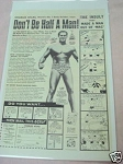 1973 Charles Atlas Bodybuilding Ad Don't Be Half A Man