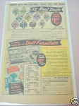 1958 Ad 12 Real Dolls & House-Full of Doll Furniture