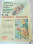 1967 Hasbro Ad G.I. Joe Frogman and Sea Sled