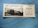 1927 Ad The Gardner Inn, Jamestown, R. I.