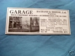 1927 Ad Garage, Bachard & Dionne, Ltd., Coaticook, Que.