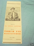 1945 South Africa Ad Torch Tie Manufacturers Men's Ties