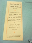 1945 South Africa Ad Broudo's Saw Mills, Johannesburg