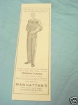 1945 South Africa Ad Manhattan's For Men's Smart Wear