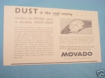 1945 South Africa Ad Movado Watches