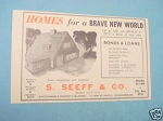 1945 South Africa Ad S. Seeff & Co. Property Agents