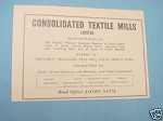 1945 South Africa Ad Consolidated Textile Mills