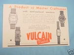 1945 South Africa Ad Vulcain Watch