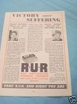1945 South Africa Ad Take R.U.R. and Right You Are