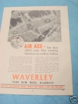 1945 South Africa Ad Waverly Pure New Wool Blankets