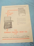 1945 South Africa Ad The Durban Falkirk Iron Co. LTD.