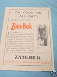 1945 South Africa Ad Zam-Buk Ointment Ends Pain
