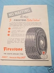 1945 South Africa Tires Ad Firestone