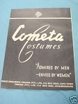 1945 South Africa Ad Cometa Costumes
