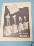 1945 South Africa Ad Slax Free Action Trousers