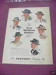 1940 Men's Hats Ad The John B. Stetson Company
