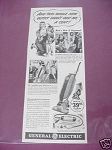 1940 General Electric Vacuum Cleaner Ad G.E.