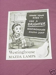 1942 Ad Westinghouse Mazda Lamps
