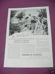 1937 American Express Ad You Travel de Luxe