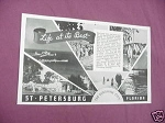 1941 Ad St. Petersburg Florida Life At Its Best