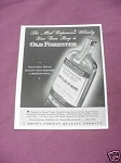 1941 Old Forester Kentucky Straight Bourbon Whiskey Ad