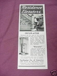 1941 Residence Elevators Ad Inclinator Co. of America