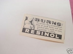 1940 Resinol Ad For Burns
