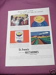 1937 St. Francis Fancy Peeled Nectarines Ad