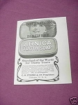 1903 Arnica Tooth Soap Ad C. H. Strong & Co., Chicago