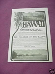 1903 Hawaii Ad The Paradise of the Pacific