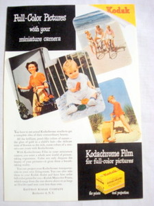 1946 Kodak Ad Kodachrome Film for Full-Color Pictures