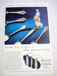 1949 Ad Wallace Sterling Silver Wallingford Ct.