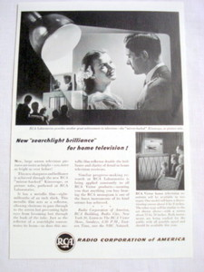 1946 RCA Ad Kinescope Picture Tube For Home Television