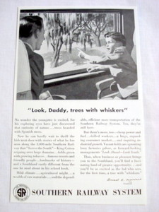 1946 Railroad Ad Southern Railway System