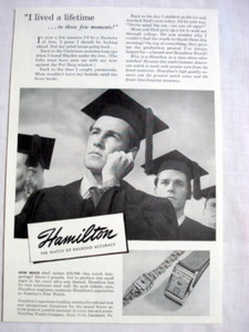 1946 Hamilton Watch Ad The Watch of Railroad Accuracy