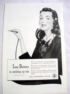 1946 Ad Bell Telephone System