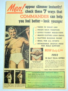 1952 Commander Ad Ward Green Co. Appear Slimmer