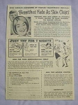 1968 Ad Fayd Skin Cream The Fleetwood Co. Blemishes Fade As Skin Clears
